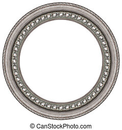 Oval silver picture frame