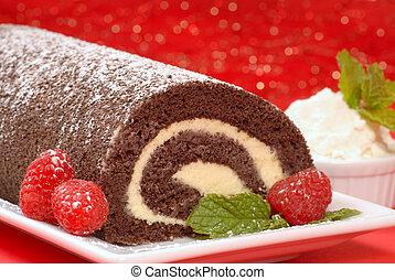 Christmas Buche de Noel cake - Delicious Christmas Buche de...