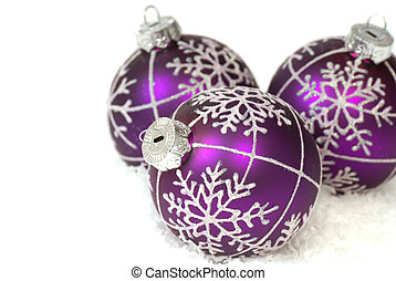 Purple Christmas ornaments - Festive purple Christmas...
