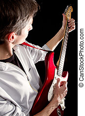 male with guitar
