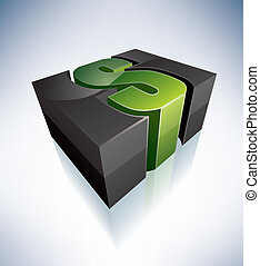 Three-dimensional S Letter