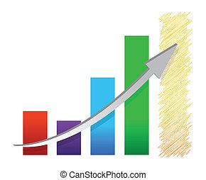 colorful economic recovery graph illustration design