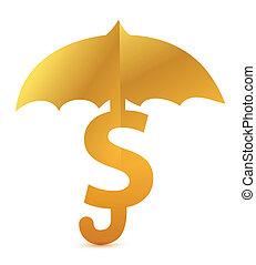 Safe business investment gold illustration design
