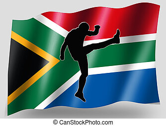 Country Flag Sport Icon Silhouette Series - South Africa...