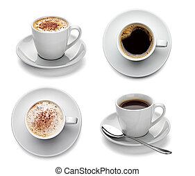 咖啡, 杯子, 飲料