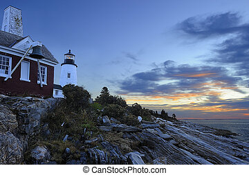 Pemaquid Lighthouse 5161 62 - Dawn breaks over the Pemaquid...