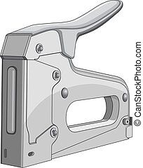 Stapler - Illustration of a heavy duty construction stapler