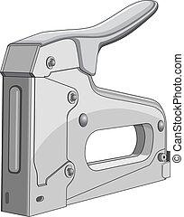 Stapler - Illustration of a heavy duty construction stapler.