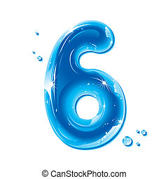 ABC series - Water Liquid Number 6 - Liquid Alphabet Gel...