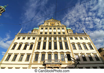 Townhall of Augsburg - The Townhall Rathaus of Augsburg,...