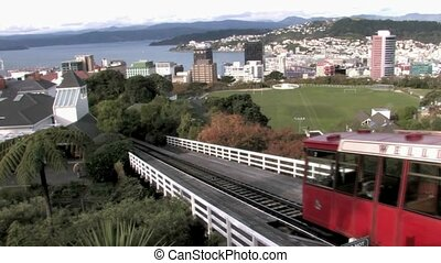 Wellington Cable Car going down - The Wellington Cable Car...
