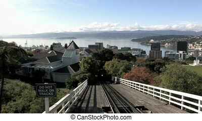Wellington Cable Car coming towards - The Wellington Cable...