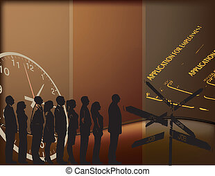 Job placement - Vector illustration on the theme of...