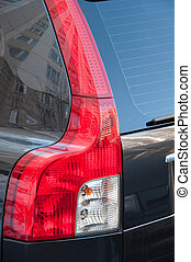 Taillight car close-up, vertical frame
