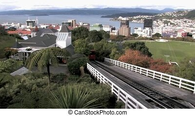 Wellington Cable Car coming up - The Wellington Cable Car is...