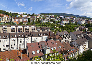 Houses in Neuchatel city, Switzerland