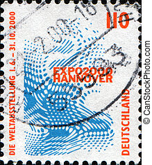 EXPO 2000, Hannover - GERMANY - CIRCA 2000: A stamp printed...