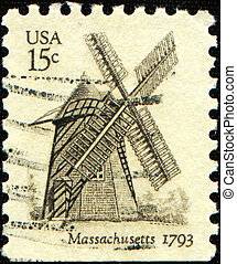 Cape Cod windmill, Eastham, Massach