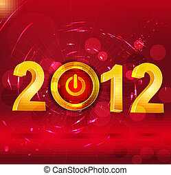 Abstract vector background New Year