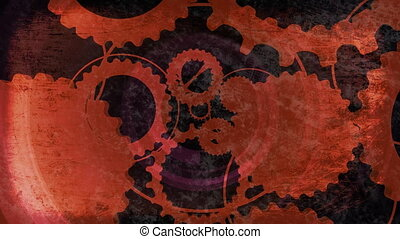 Gears Abstract Looping Animated Background