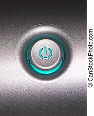 Power Button - A close up of a power button