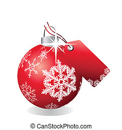 Bauble with tag
