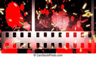 Bullets Blood Film Effects Looping Background