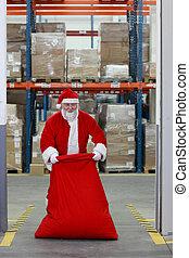 Santa Claus  packing sack