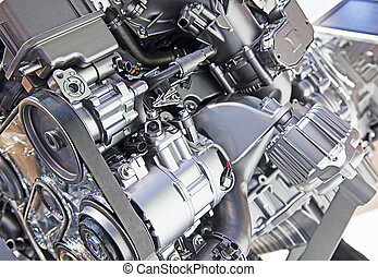 car engine - Part of the modern car engine