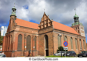 St. Bridget Church in Gdansk - Gothic style St. Bridget...