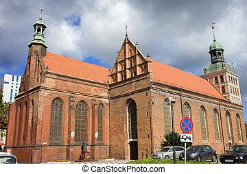 St. Bridget Church in Gdansk - Gothic style St. Bridget...