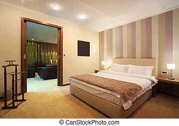 Hotel room - Interior of a hotel room for two, one part of a...