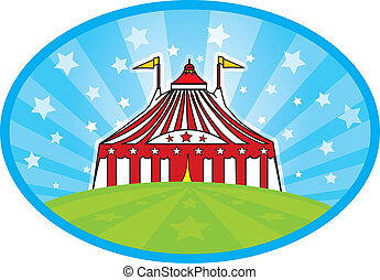 Carnaval tent - A big top with stars in the sky
