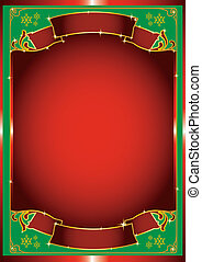 red chrismas poster - A background for a christmas card or...