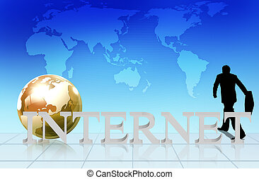 word Internet - business concept