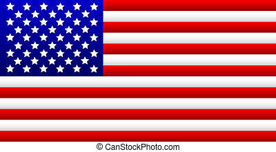USA Flag - United States of America flag - vector