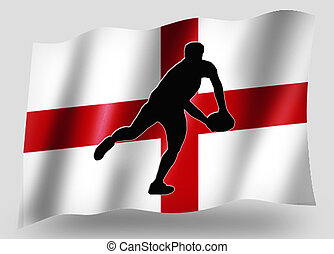 Country Flag Sport Icon Silhouette English Rugby Pass