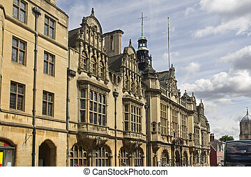 Oxford College, UK - Balliol college in Oxford Broad Street...