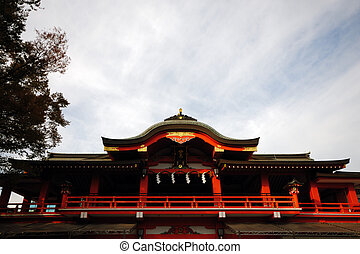temple - The roof on the temple in Japan.