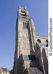 Churchtower of Bruges, Belgium - Tower of the Onze Lieve...