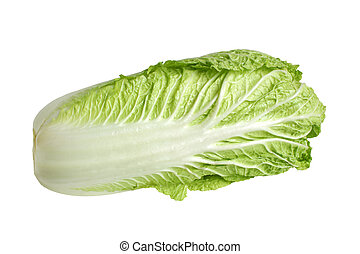 Chinese cabbage isolated on the white background