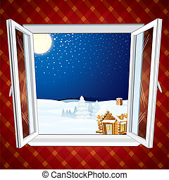 Christmas winter scene - Winter Christmas winter scene...