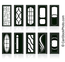 Collection of Interior Doors - Vector Collection of modern...