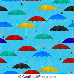 Rainy day background - Seamless background pattern with...
