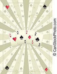 old poker background