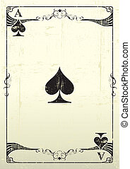 Ace Of Spades grunge background - An Ace Of Spades with a...