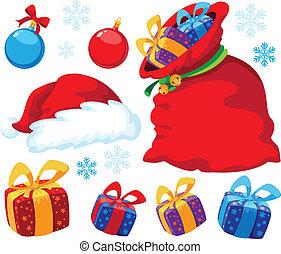 Christmas set - illustration of a Christmas set