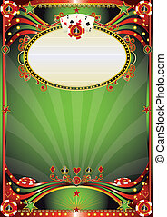 Baroque casino background - A poster for a casino