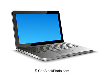 Laptop Perspective - Laptop vector on white background with...