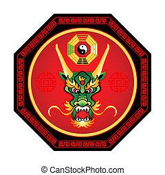 feng,  shui, dragão